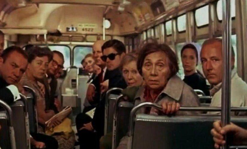 автобус, пассажиры
