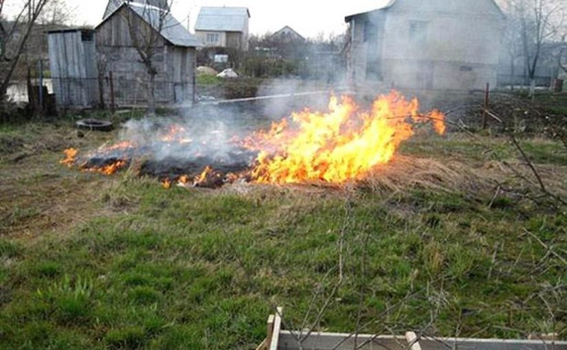маленький мальчик поджег траву и загорелся дом, спички детям не игрушка