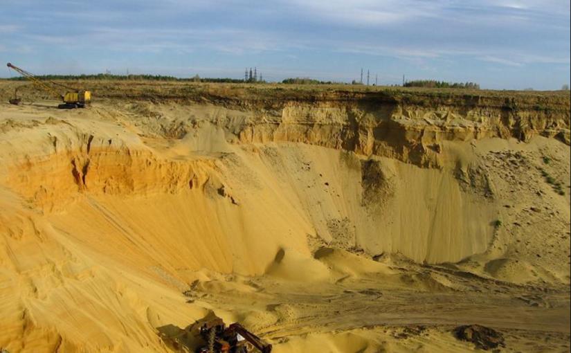старый песчаный карьер конца семидесятых годов России