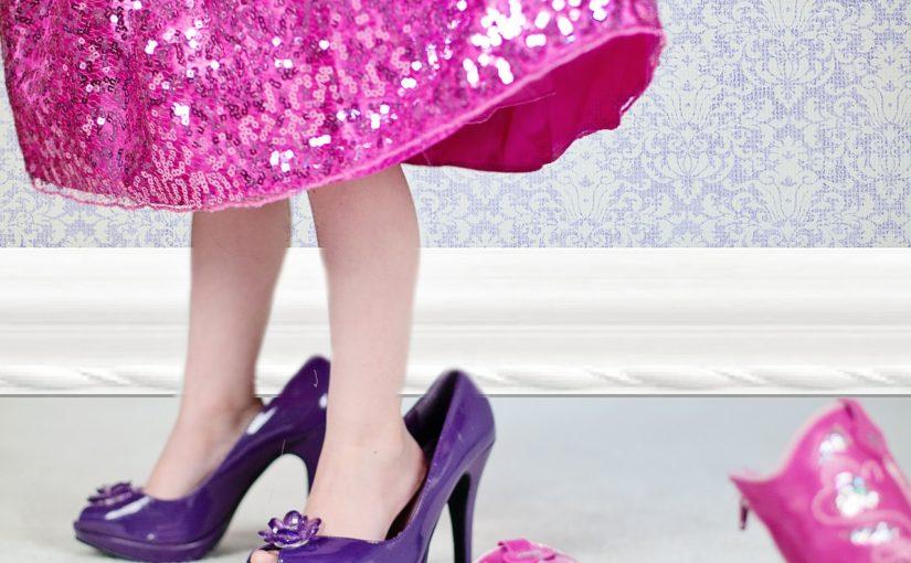 девочка, платье, туфли
